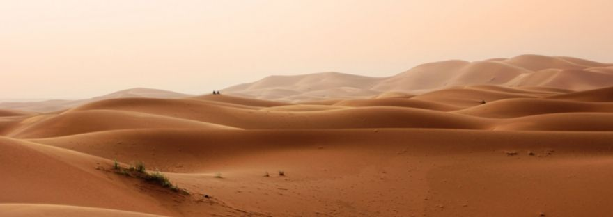 View of desert sand dunes