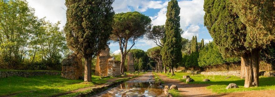 Roman road the Appian Way, Rome