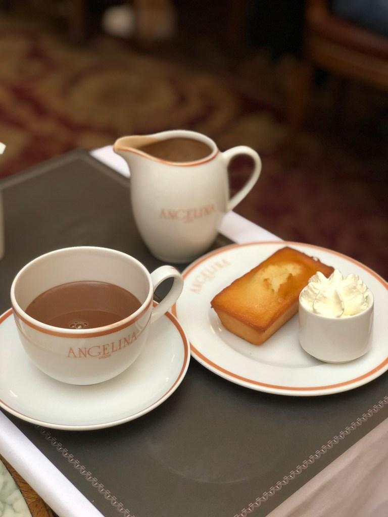 Desserts and hot chocolate Angelina Paris