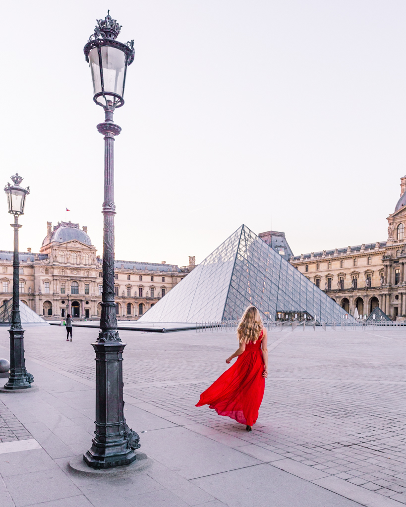 The courtyard of the Louvre museum