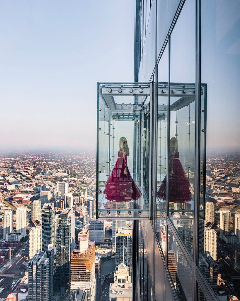 Skydeck glass balcony Chicago