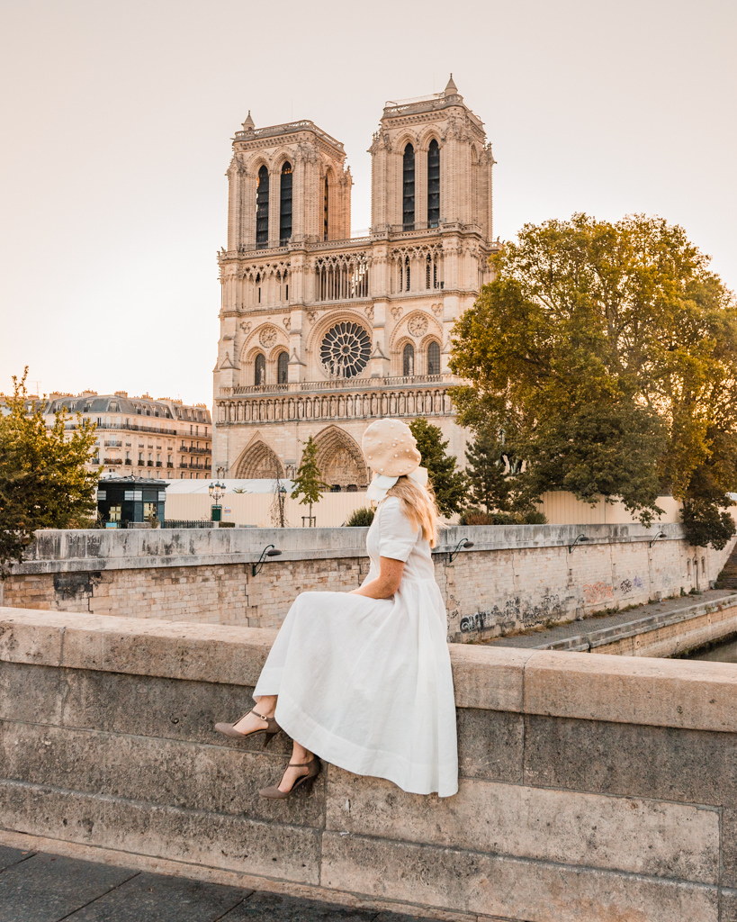 Notre Dame Cathedral in Paris in fall