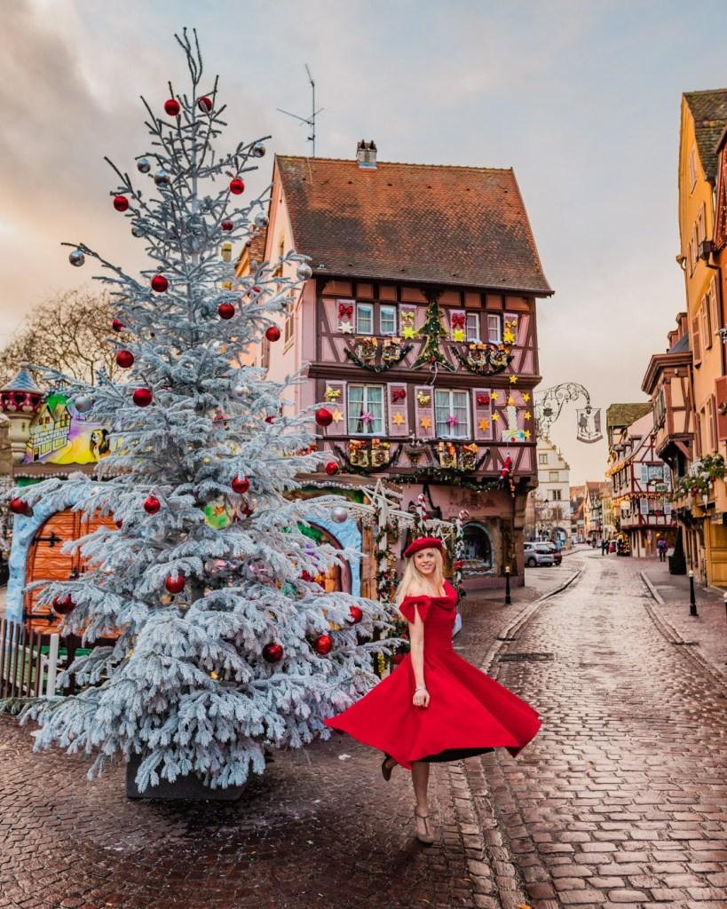 """Maison dite """"Au Pèlerin"""" during Christmas - Colmar, Alsace"""