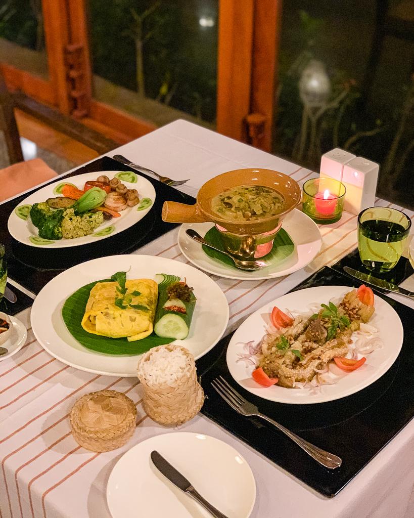 Villa Inle Boutique Resort, dinner - Inle Lake, Myanmar