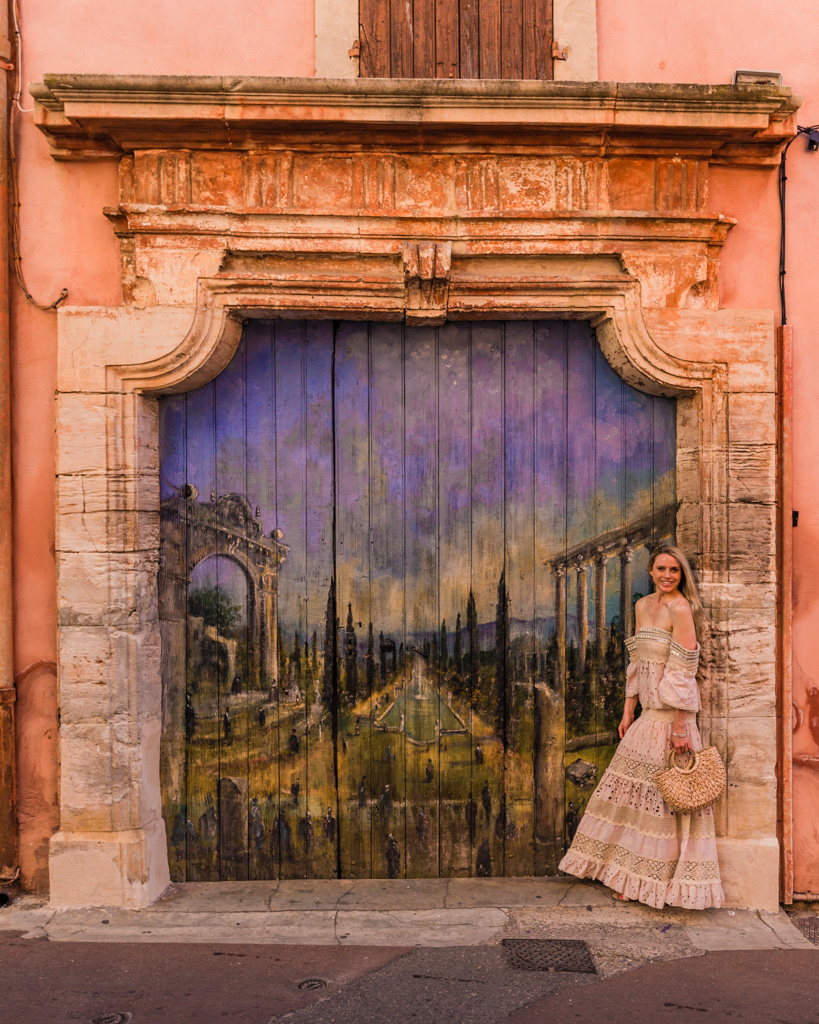 Mural in the village of Roussillon in Provence, France