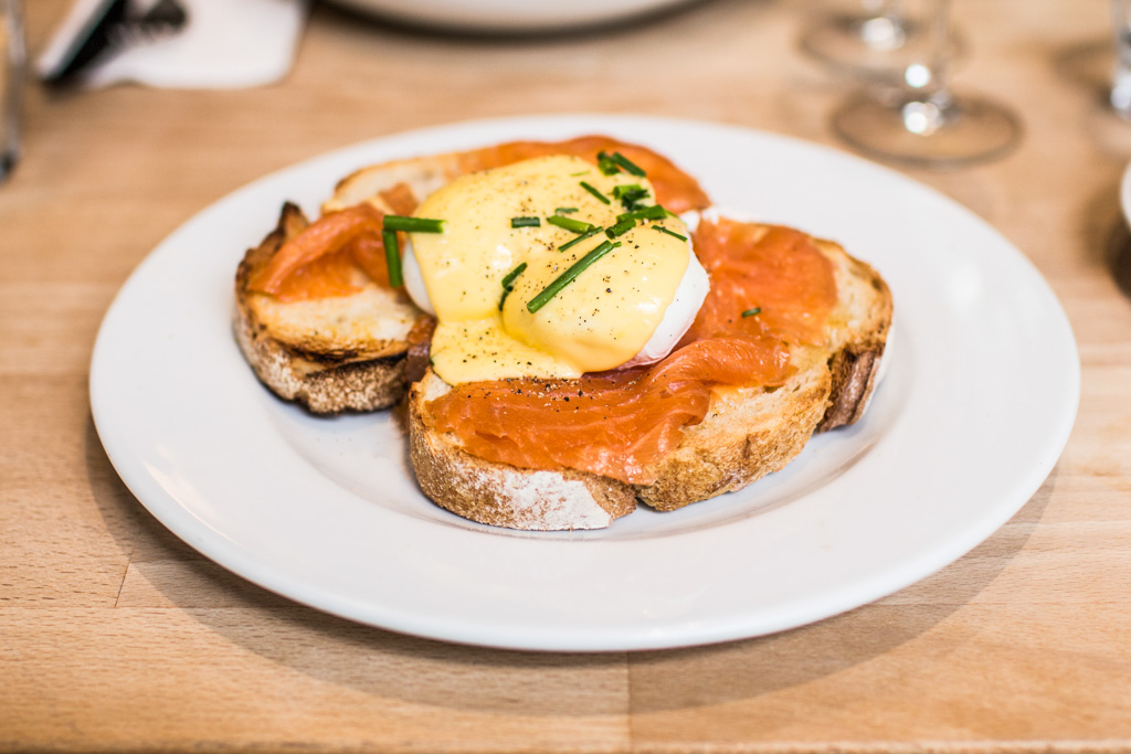Eggs Benedict at Bakers and Roasters. Best breakfast and brunch in Amsterdam.