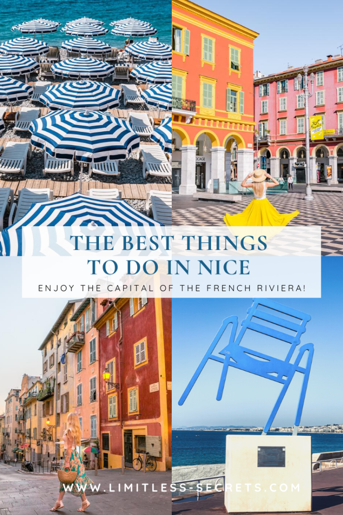 The Best Things to do in Nice - Nice, the capital of the French Riviera, is a very popular destination in south of France! Experience the Best Things to do in Nice and get all the info you need with my following guide: what to see and do, when to visit, where to stay, where to eat and more! #nice #france #frenchriviera #cotedazur | Nice photography | Nice travel guides | What to do in Nice | What to see in Nice | Instagram places in Nice | Nice tourism | Nice travel | Best of Nice | Where to eat and stay in Nice