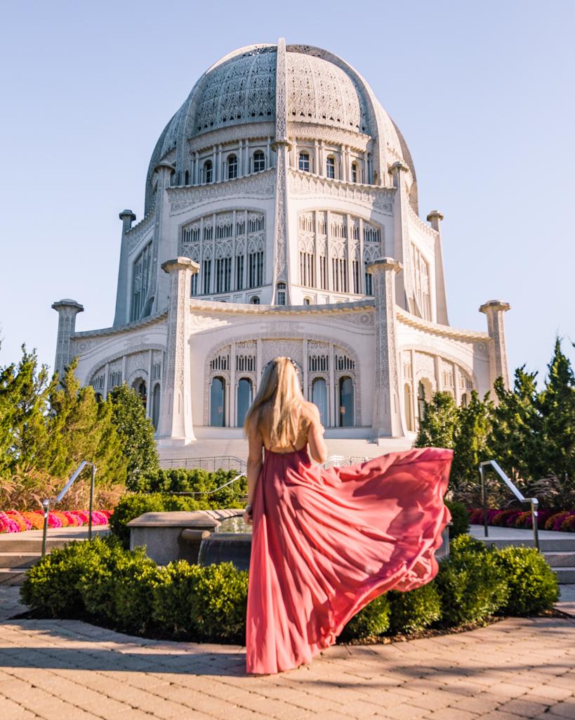 Bahá'í House of Worship in Wilmette near Chicago