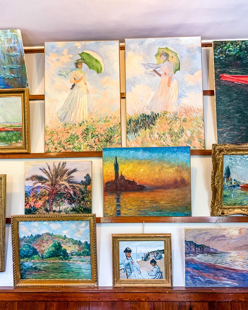 Monet's studio inside Monet's House in Giverny