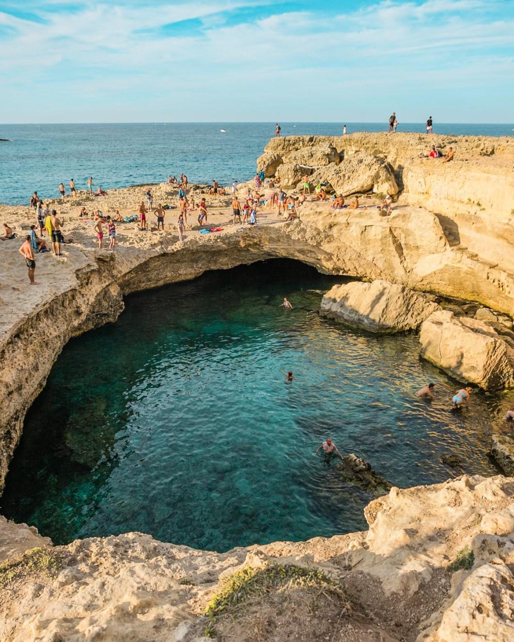Grotta della Poesia - Cave of Poetry in Torre dell'Orso - Puglia