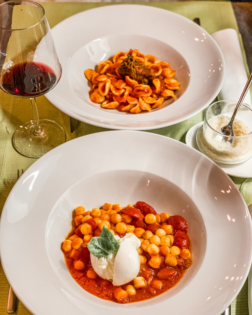 Pasta from the restaurant Le muse e il Mare - Polignano a Mare in Puglia