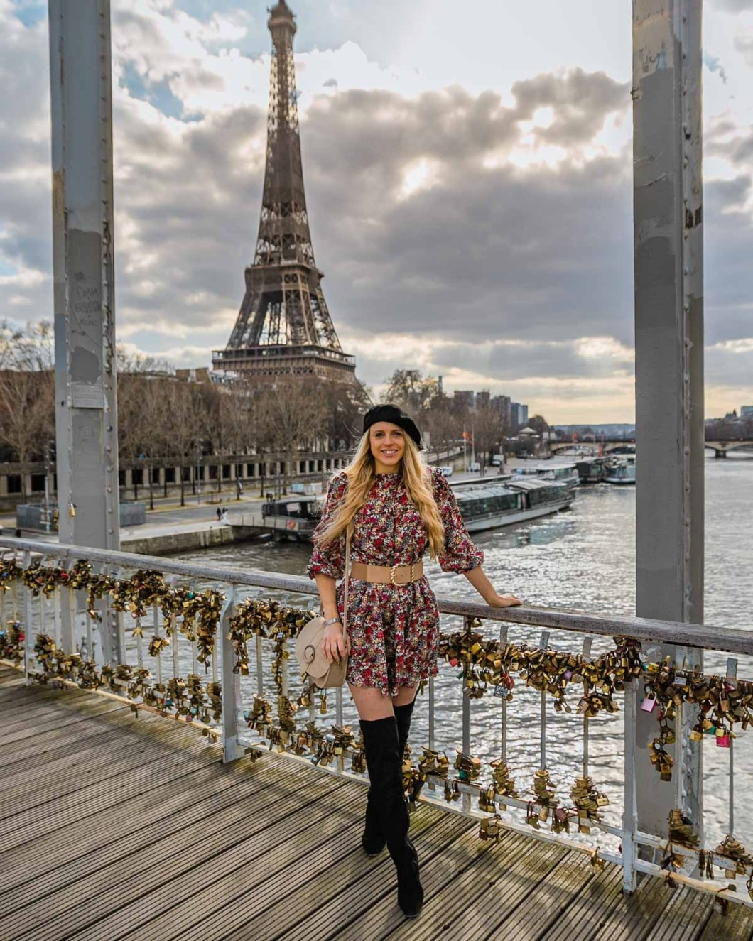 Passerelle Debilly with the Eiffel Tower