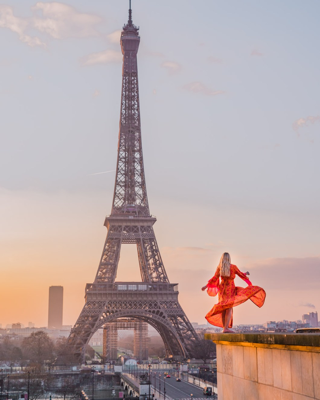 Esplanade du Trocadéro with the Eiffel Tower