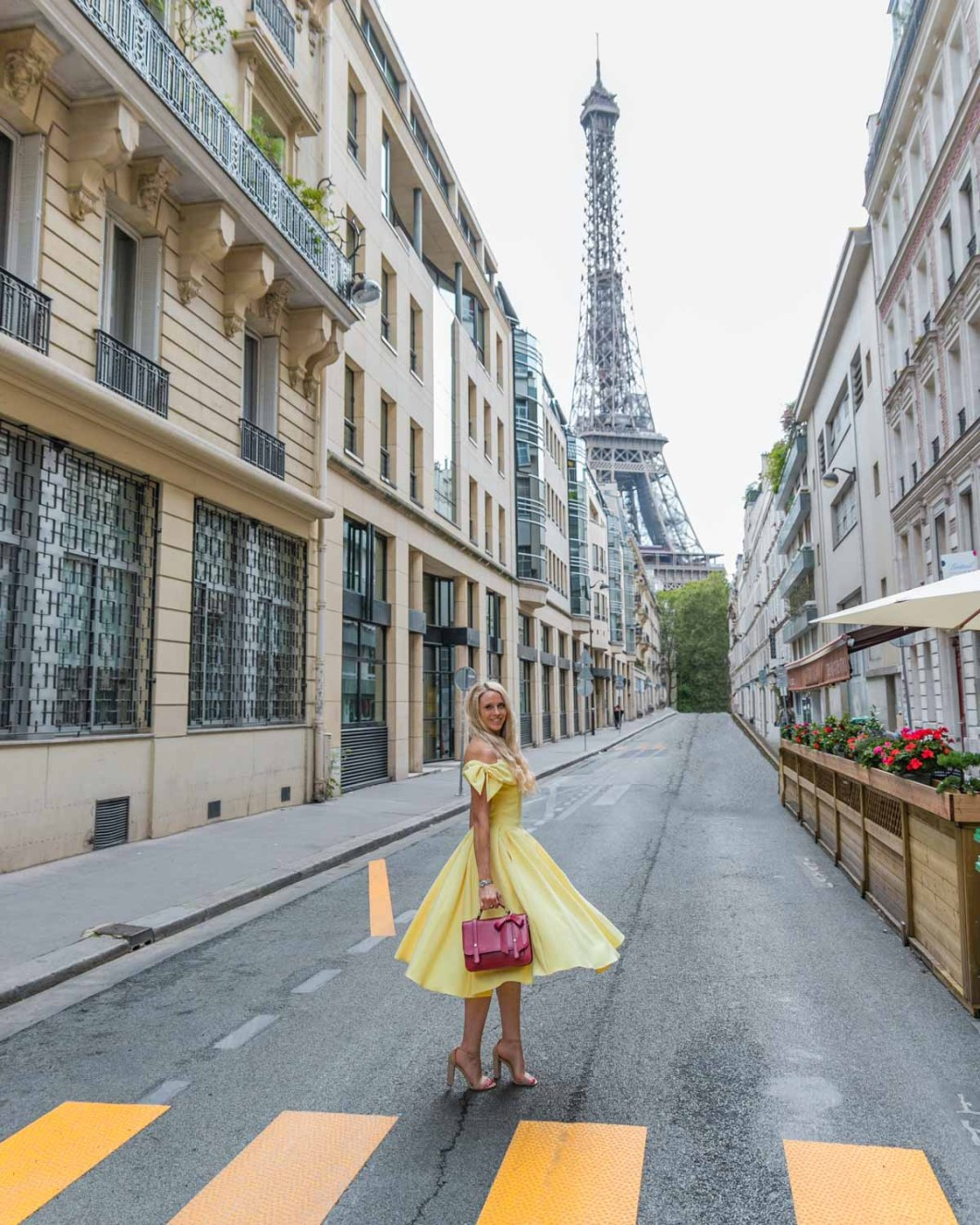 Rue de Monttessuy with the Eiffel Tower
