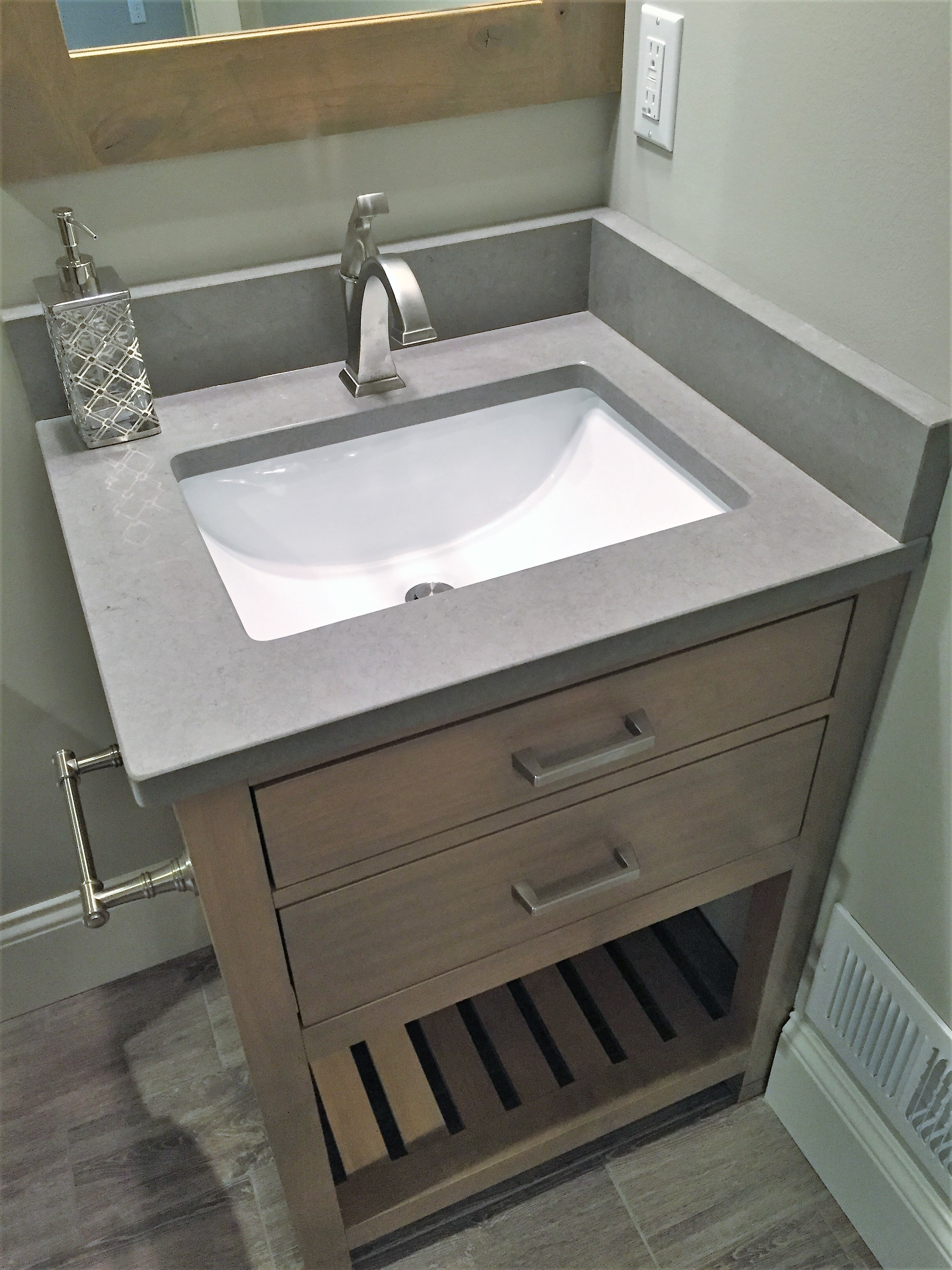 Picture of guest bathroom sink