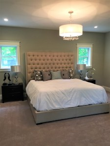 Picture of bed in master bedroom