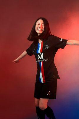 4eme maillot psg jordan fourth 2019 2020 modele femme xl