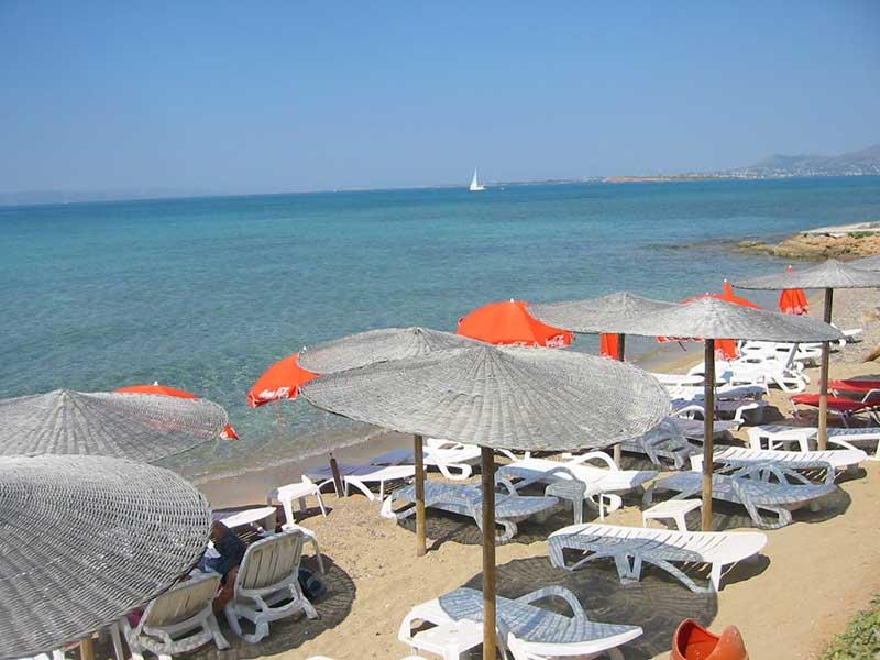 Megalochori beach, Agistri