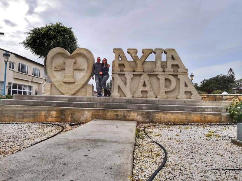 "stone description ""I love Ayia Napa"""
