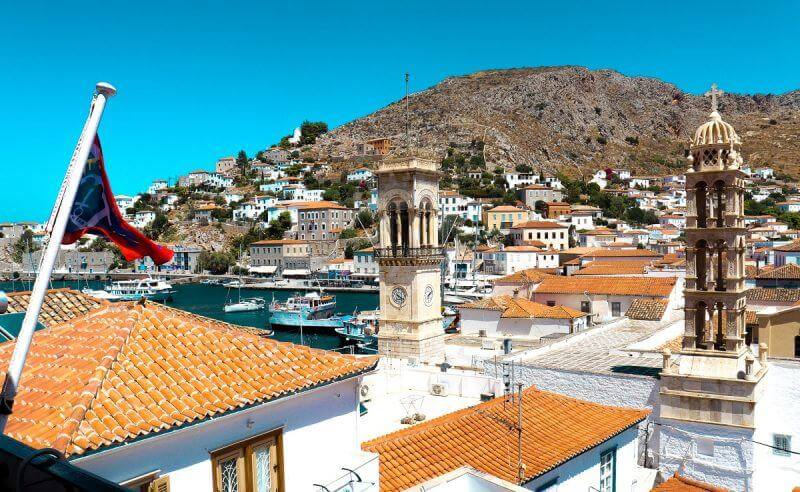 view of hydra port - 15 TOP THINGS TO DO IN HYDRA ISLAND GREECE