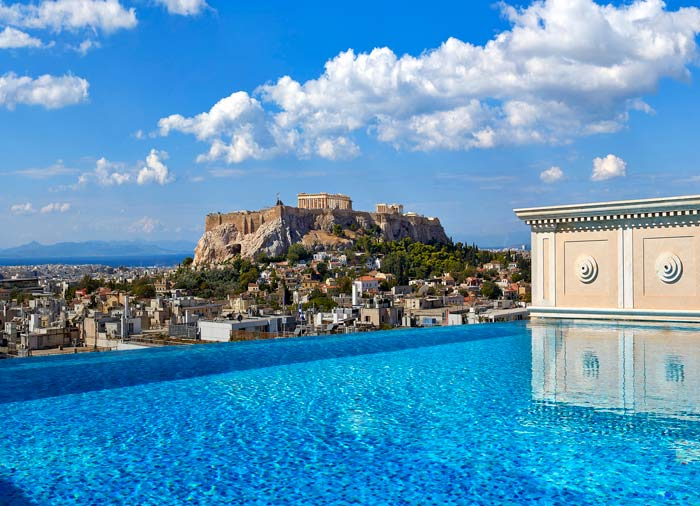 acropolis view from king george hotel athens - Top 5  Honeymoon Destinations in Greece