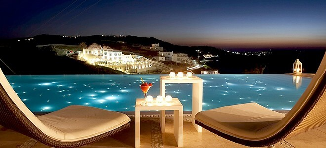 Bill Coo Suites and Lounge Mykonos Greece Honeymoon lounge bar - Top 5  Honeymoon Destinations in Greece