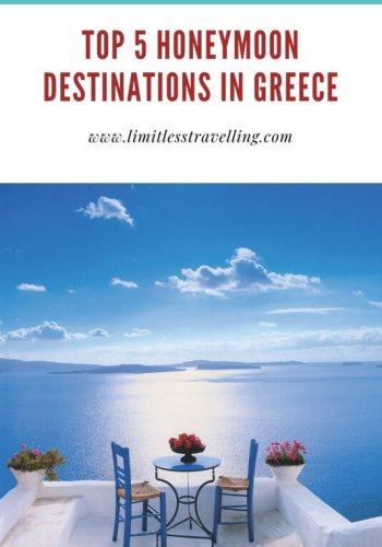 top honeymoon destinations in Greece