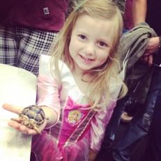 Princess Aurora and a Teenage Mutant Ninja Turtle
