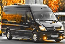 Image of black mercedes sprinter van