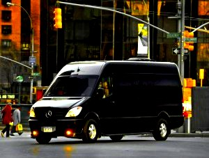 Image of executive Mercedes sprinter van in CT