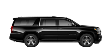 black 6 passenger cadillac escalade and chevrolet suburban SUV's picture