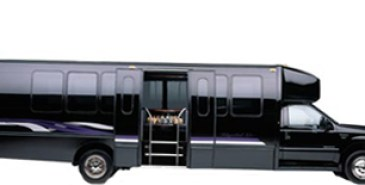 24 passenger beautiful black party bus with pole and 2 bar areas picture