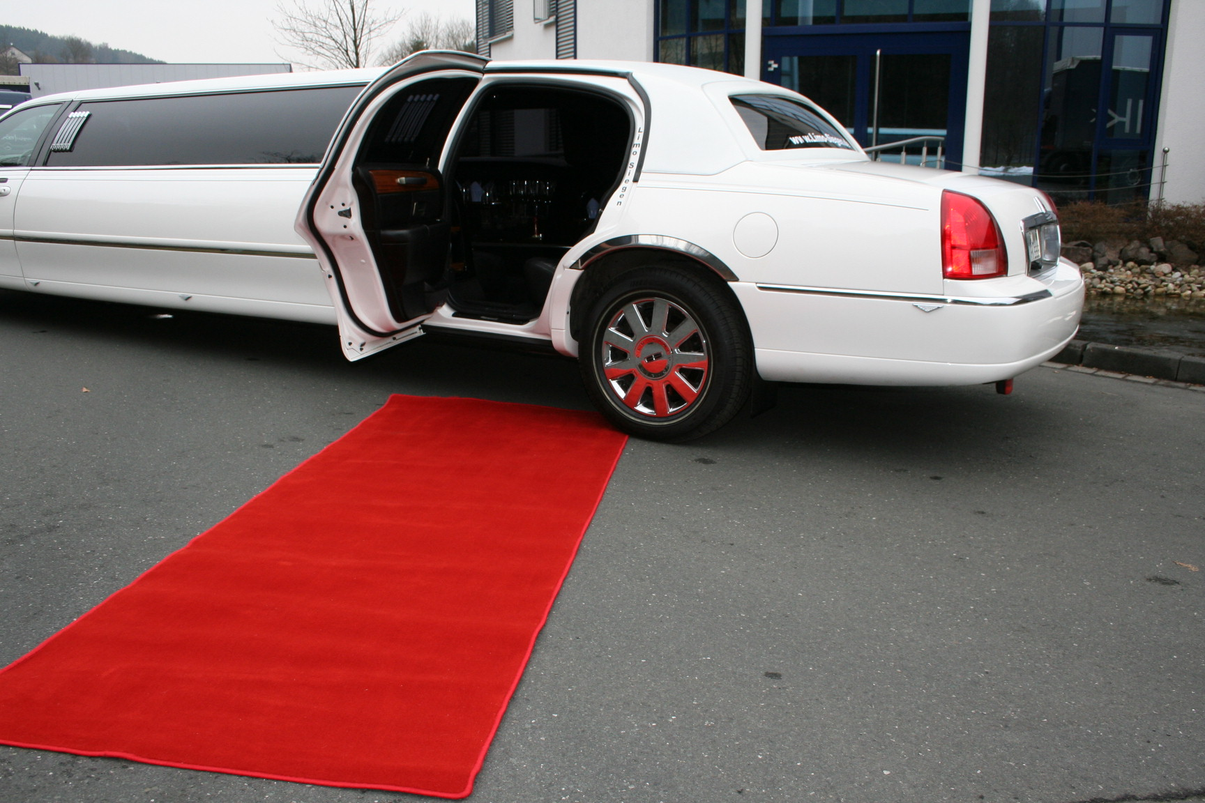 Limousine Roter Teppich Roter Teppich