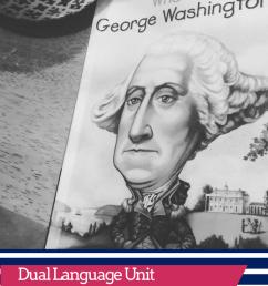 Bilingual English and Spanish Unit Study on George Washington for  President's Day Dual Language   Bilingual Mami [ 1102 x 735 Pixel ]