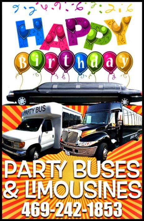 Happy Birthday Limo Party Bus
