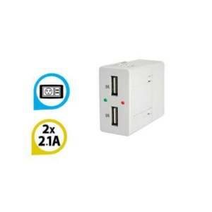 Double USB Charge Socket Gevis 2.1A