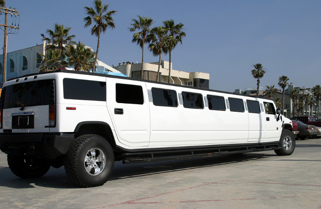 White & Black Hummer Limousines