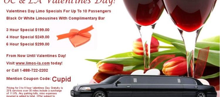 Happy Valentines Day Orange County Limousine Specials