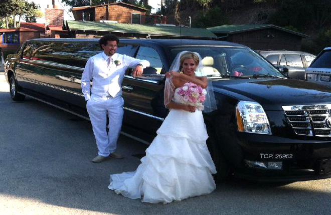 Black Wedding Cadillac Escalade Limousine