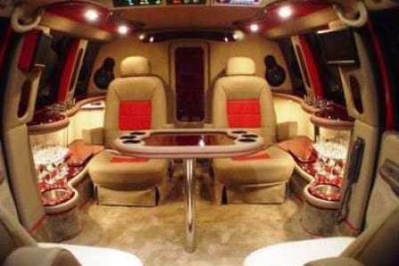 inside the Red Limo Jet. Comes with Grey Poupon.