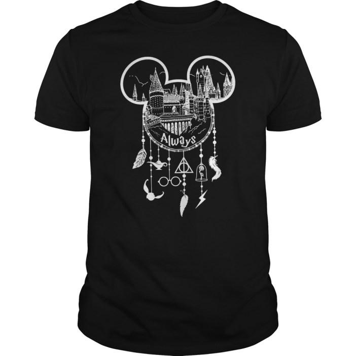 Harry Potter Hogwarts Disney Dreamcatcher Deathly Hallows shirt