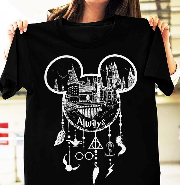 Harry Potter Hogwarts Disney Dreamcatcher Deathly Hallows shirt
