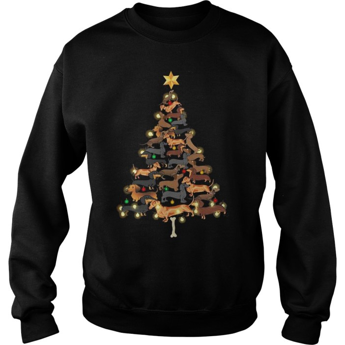 Dachshunds Christmas tree shirt