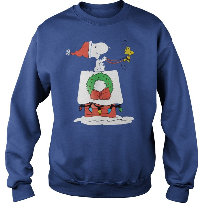 Snoopy rides Woodstock Christmas house shirt