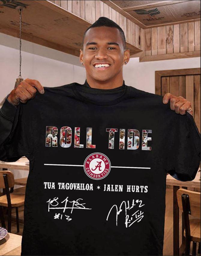 Roll Tide Alabama Tua Tagovailoa and Jalen Hurts shirt