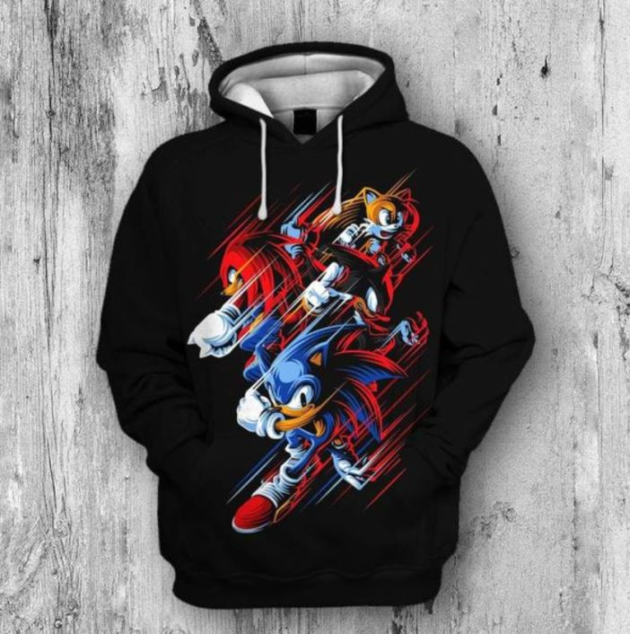 Sonic Shadow and Silver brothers running shirt