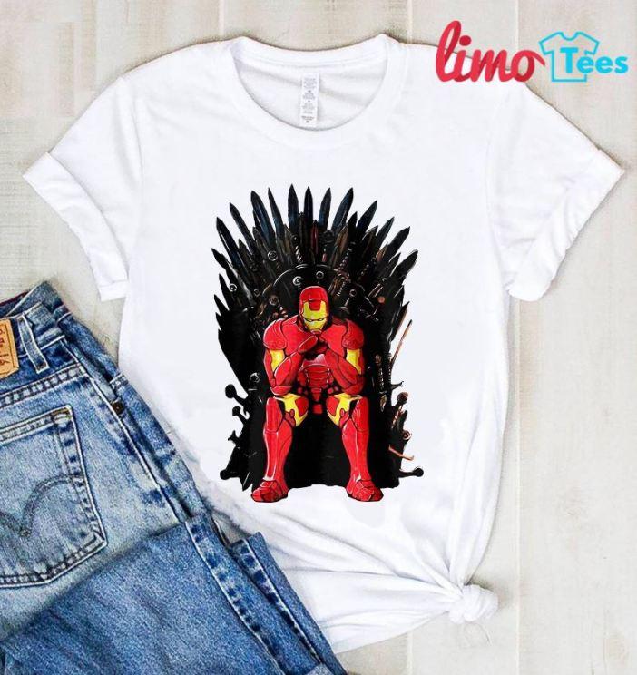 Thrones Tony Stark Marvel Endgame t-shirt