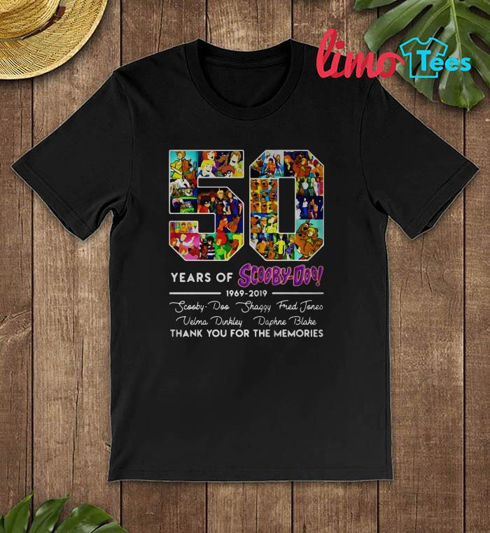 50 years of Scooby-Doo thank you for the memories shirt