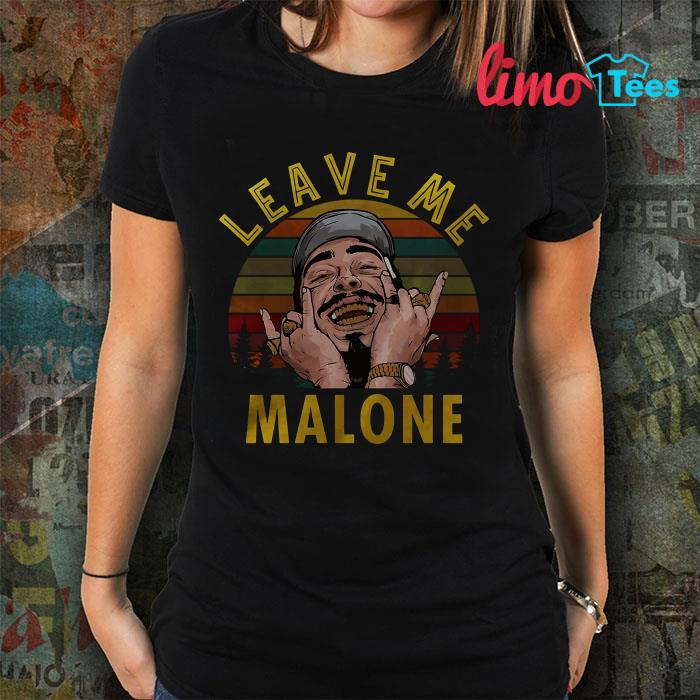 Leave me Malone vintage sunset shirt