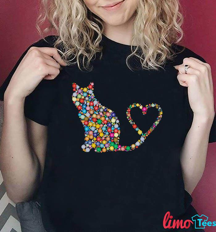 Rainbow cat meow love shirt